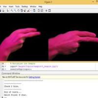 پروژه تشخیص اشارات دست (شبیه سازی بهمراه دیتابیس ):انجام پروژهمتلب